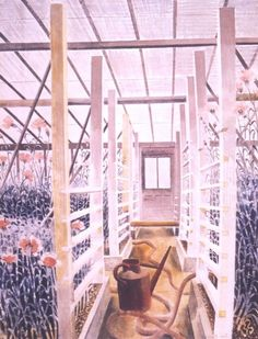 'The Carnation House, Kew' by Eric Ravilious, 1938