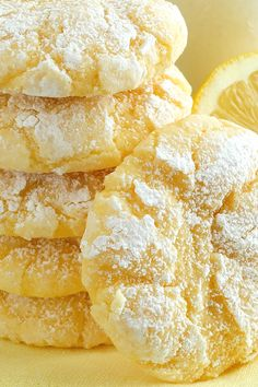 Lemon Gooey Butter Cookies ~ Deliciousness made with all-natural flavoring… #BestCookies