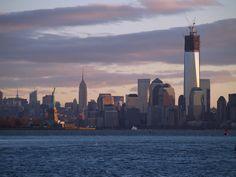 Lower Manhattan, after sunrise a few days back