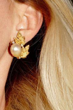 Stunning Vintage BUCCELLATI 18k Yellow Gold Diamond & Pearl Earrings   Jewelry & Watches, Fine Jewelry, Fine Earrings   eBay!