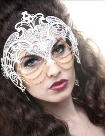 Black Metal Chains Masquerade Mask - Luxury Filigree laser cut masquerade ball mask - Brand New Design