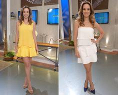 Com a temperatura nas alturas, apresentadora tem investido nos vestidinhos bem curtinhos. Confira os modelos estampados e os de uma única cor! ♥