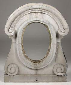 19TH C. FRENCH ZINC WINDOW FRAME SCROLLING SIDES : Lot 406
