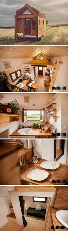 The home measures 217 sq ft with an additional 54 sq ft loft space. The Odyssee also has a bathroom with a dry flush toilet. The home c...
