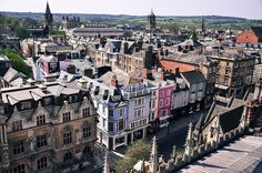 Oxford - Finnish Travel Blog. A superb view over Oxford opens up from the tower of the University church of St Mary.
