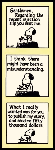 Snoopy Facing Rejection  A Laugh A Day     Snoopy