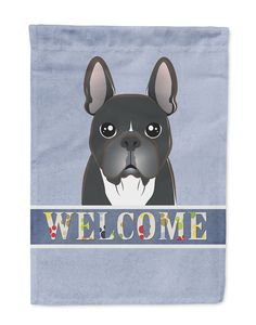 French Bulldog Welcome Flag Garden Size BB1413GF