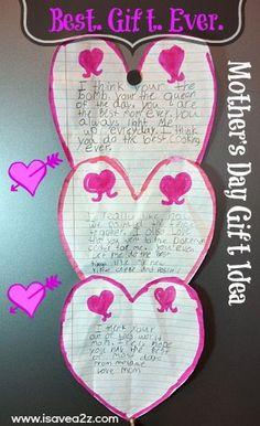 Cute & Frugal #MothersDay Gift idea! #kidscrafts #preschool (pinned by Super Simple Songs)