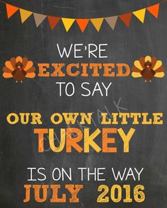 0465f4d042363 Thanksgiving Pregnancy Announcement - Fall Pregnancy Announcement - We're  Adding A Turkey - Thanksgiving Pregnancy Chalkboard - Digital File