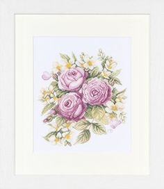 Peonies - cross stitch kit by Marjolein Bastin - A lovely picture of a spray of these elegant flowers. Cross Stitch Kits, Cross Stitch Designs, Cross Stitch Embroidery, Marjolein Bastin, Peonies Bouquet, Peony, Nature Artists, Elegant Flowers, Dmc Floss