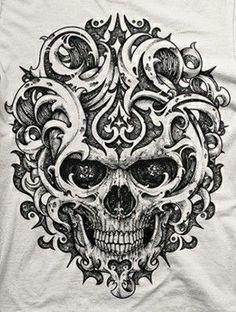 Skull Rose Tattoos, Head Tattoos, Body Art Tattoos, Sleeve Tattoos, Skull Tattoo Design, Tattoo Design Drawings, Tattoo Sketches, Tattoo Designs, Style Punk Rock