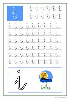 Caligrafía de las vocales en pdf para imprimir | Fichas de Caligrafía Preschool Education, Preschool Worksheets, Hand Lettering Tutorial, Baby Play, Handwriting, Alphabet, Acting, Homeschool, Classroom