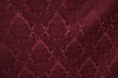 Damask Poly Linen Tablecloth - Burgundy 1232