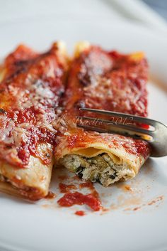 Cannelloni With Zucchini, Ricotta and Tomato Sauce-8 by ilva-b, via Flickr