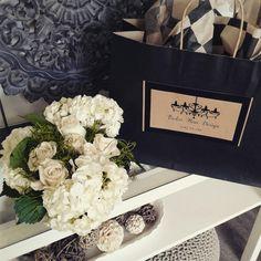 Hydrangeas and White Roses Wedding Centerpiece