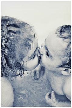 "How ""precious"" is this?  So..when did you get your ""first"" kiss from a boy?  Pretty early, in life, actually! lol"