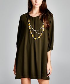 Another great find on #zulily! Olive Swing Dress - Women #zulilyfinds