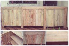 Armário 6 portas em madeira de pallet