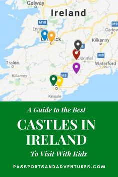 Some of the best castles in Ireland to visit with kids include the famous Blarney Castle and also Bu Best Of Ireland, Ireland With Kids, Galway Ireland, Cork Ireland, Travel With Kids, Family Travel, Summer Travel, Castles To Visit, Ireland Travel Guide