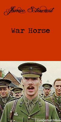 WAR HORSE ~ Benedict Cumberbatch as Jamie. [Video/GIF]