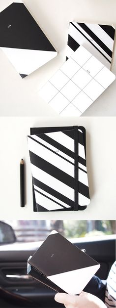 This sleek and classy notebook is ultra portable, too! It's designed to fit inside your passport case, so you can easily take it with you wherever you go!