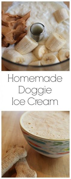 Easy (and cheap) 3 ingredient homemade doggie ice cream!