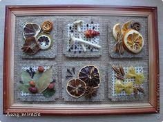 Картина панно рисунок Аппликация Моделирование конструирование Панно для кухни Материал природный Мешковина Продукты пищевые фото 1