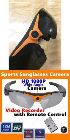 9c89cf4707e7 New Remote Control Sports HD 1080P Sunglasses Camera Mini DV DVR Sun Glasses  Video Recorder Polarized