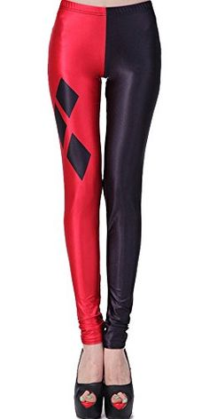 New Trending Pants: SlickBlue Harley Quinn Print Ankle Length Leggings - Red/Black, M - L - XL. SlickBlue Harley Quinn Print Ankle Length Leggings – Red/Black, M – L – XL   Special Offer: $6.99      111 Reviews Women's Fashionable Digital Print Graphic Design Stretch Seamless Leggings Prepare to fall in love with these comfortable tights, made from a...