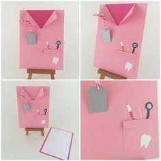 Dentist Dentistry School Pink Lab Coat Card. by CallMeCraftie, $5.50