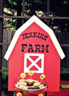 "Photo 1 of 13: Barnyard/Farm / Birthday ""Barnyard Birthday Dessert Table""   Catch My Party"