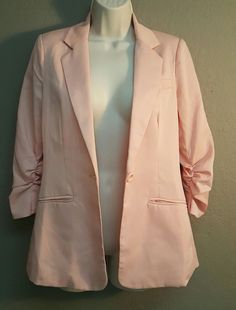 Forever 21 Small Blazer, Peach, Ruched Sleeves, AS IS | Clothing, Shoes & Accessories, Women's Clothing, Suits & Blazers | eBay!