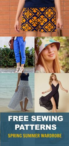 Free sewing patterns: Spring wardrobe for women: Get access to 25+ free sewing patterns for women, including easy summer dresses, tops and pants!