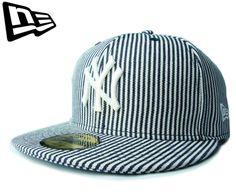 【ニューエラ】【NEW ERA】59FIFTY NEW YORK YANKEES ヒッコリーストライプ ブルーXホワイト【CAP】【newera】【帽子】【ホワイト】【snapback】【STRIPE】【ニューヨーク・ヤンキース】【ピンストライプ】【黒】【NY】【ジャストサイズ】【紺】【楽天市場】