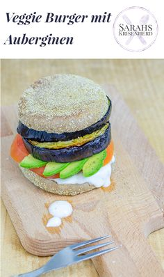 vegetarischer Auberginen Burger // veggie Eggplant Burger