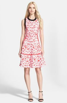 kate spade new york floral jacquard fit & flare dress available at #Nordstrom www.MadamPaloozaEmporium.com www.facebook.com/MadamPalooza