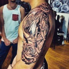 Amazing half sleeve!!! #tattoogodsngoddess #tggartistry #tattoo