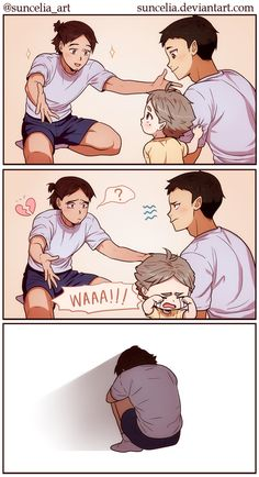 Haikyuu!! Little Suga and Asahi by Suncelia on DeviantArt