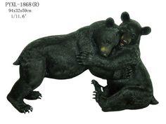 "Outdoor Indoor Garden Patio 2 Black Bears Playing Wrestling Statue Sculpture 23""H V's Wild Animal Statue http://www.amazon.com/dp/B00GNJYJZY/ref=cm_sw_r_pi_dp_dyNJwb03S5AEB"