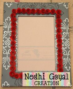 Royal print with paper rose...frame...