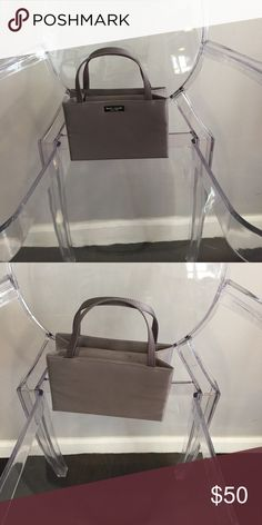 Kate Spade Mini Nylon Sam Bag - Gray Gently used mini Kate Spade Nylon Sam bag kate spade Bags Mini Bags