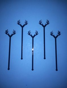 Antler Drink Stirrer Perfect Weddings Wedding Shower Antlers Swizzle Sticks Party Bohemian Acrylic Laser Cut Bar Decor 50 Pack