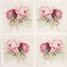 4x Single Lunch Party Paper Napkins for Decoupage Decopatch Craft Roses Bouquet | eBay