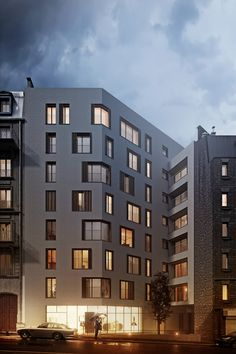 Housing Project Competition located in Paris.