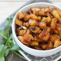 My family's favorite roast potatoes. Deliciously seasoned roasted potatoes that are great for dinner or breakfast!
