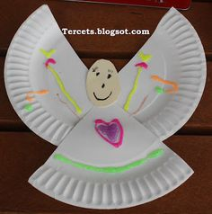 Tercets Angel Craft For Archangels Or Guardian Angels Preschool Christmas