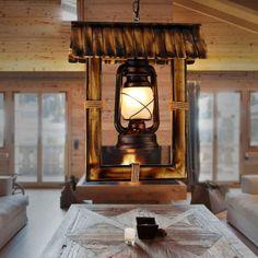 Vintage Wood Pendant Lamp Retro Creative House Hanging Light American Country Single Head Lighting Fixture Home Decor