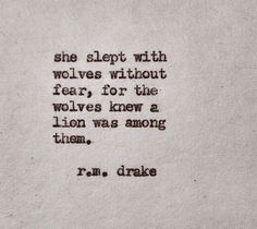 she slept with wolves | via the Good fight ~ Cityhaüs Design