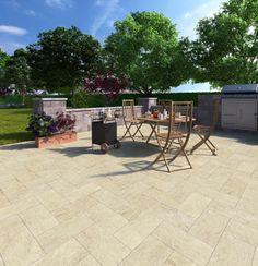 Patio area, outdoor living room.