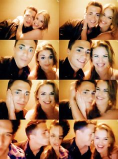 holland roden and colton Haynes..to bad they aren't together anymore..they were cute...now shes got ian